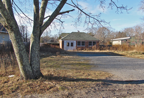 BETH YOUNG FILE PHOTO | The mixed-use project is planned for this Pike Street property in in Mattituck.