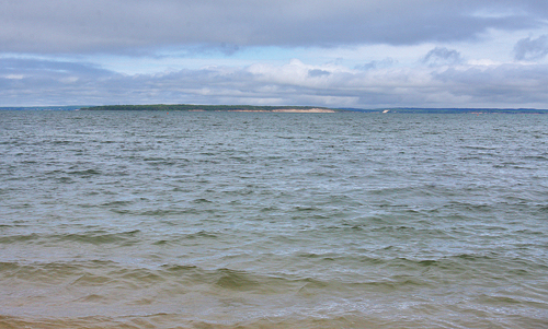 BARBARAELLEN KOCH PHOTO A view of Peonic Bay from Mattituck beach