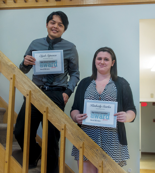 Elijah Sepuesca and Kimberly Searles were among our 2015 journalism scholarship winners. (Credit: Robert O'Rourk)