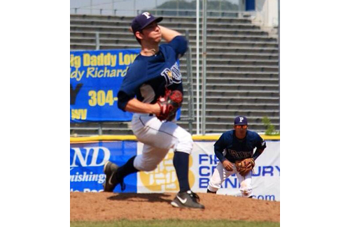 Steve Ascher went 2-1 with a 2.35 earned run average as a relief pitcher for the Princeton (W.Va.) Rays in a rookie league this summer. (Credit: Photo courtesy of Steve Ascher)