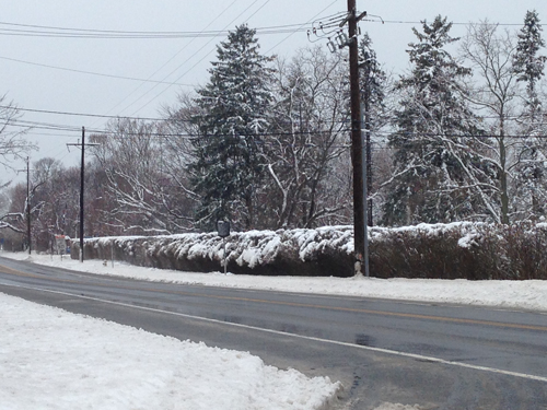 Cyndi Murray Photo   Route 48 in Southold at 10 a.m. Wednesday.