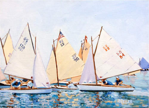 """S.S. Rendezvous and Race"" by Mattituck artist Pat Feiler."