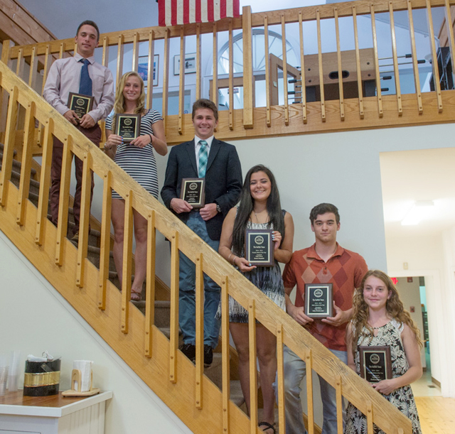 The Suffolk Times athletes of the year were (from left):  Joe Tardif and Nikki Zurawski of Mattituck, Liam Walker and Jenna Standish of Southold and John Drinkwater and Madison Tabor of Greenport. (Credit: Robert O'Rourk)
