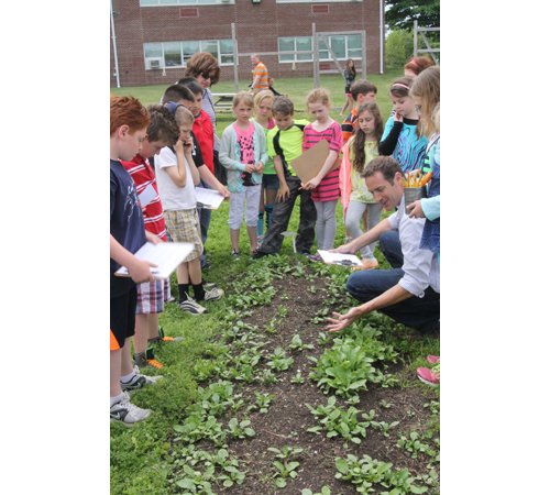 JENNIFER GUSTAVSON PHOTO | Southold students and community members gathered Thursday for the district's first garden expo.