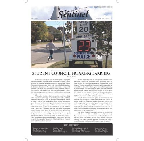 Read Southold's student newspaper, The Sentinel