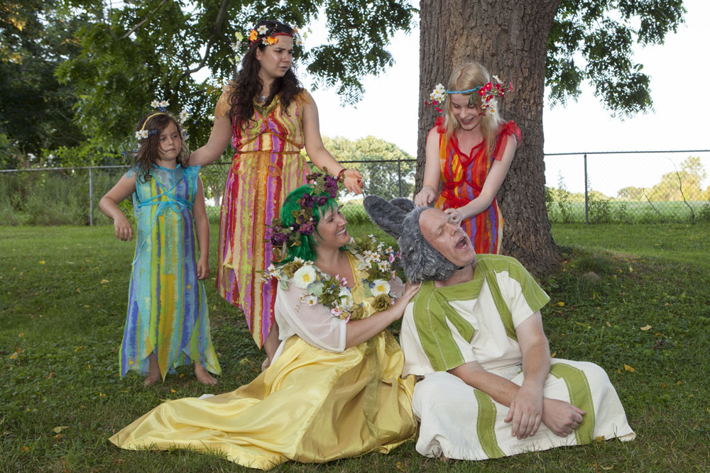 Northeast Stage rehearses William Shakespeare's 'A Midsummer Night's Dream.' (Credit: Katharine Schroeder)