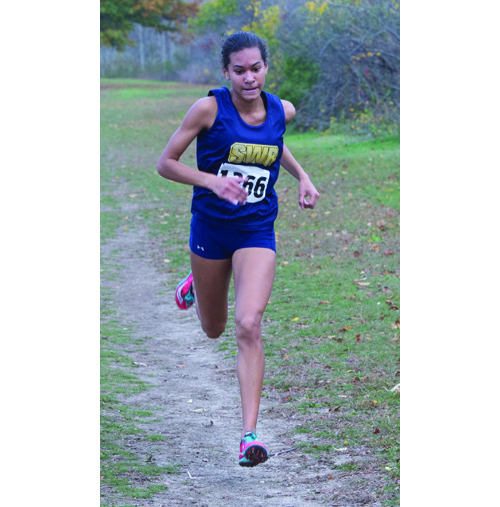 Shoreham-Wading River sophomore Katherine Lee failed to retain her state title, taking third place in the girls Class B race on Saturday. (Credit: Robert O'Rourke, file)