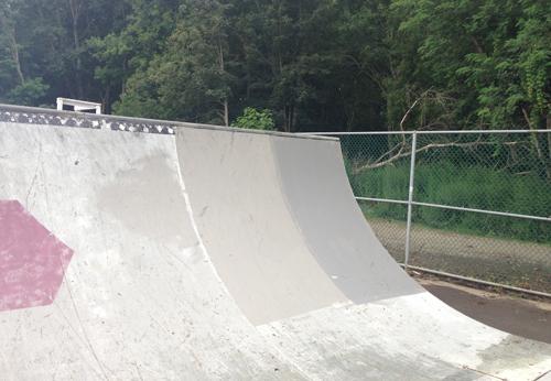 Skate ramp painted in Greenport