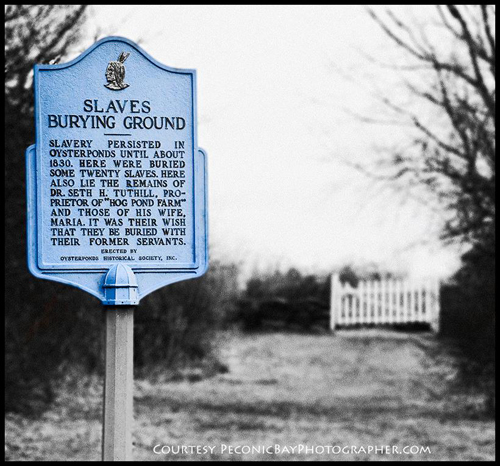 The Slaves Burying Ground in Orient. (Suffolk County Historical Society courtesy photo)