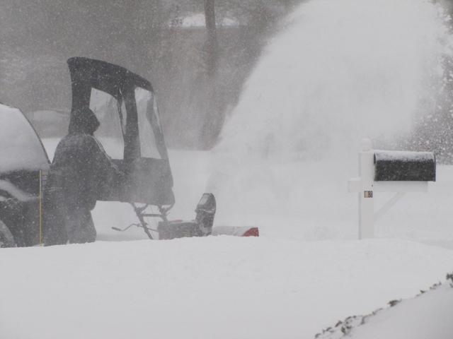 Snowblower in Greenport