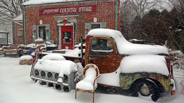 Snowfall Jamesport Country Store