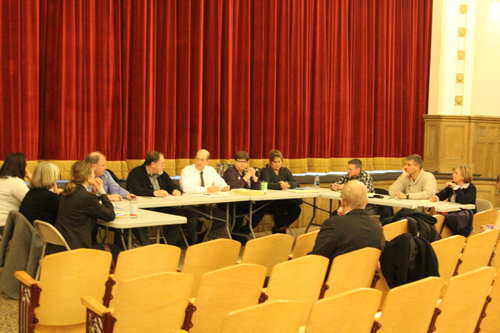 The Southold and Greenport school boards held a joint work session Wednesday. (Credit: Jen Nuzzo)
