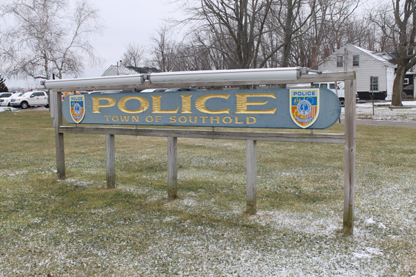 Southold PD Sign - Winter - 600
