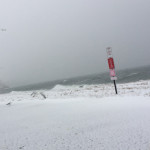 Southold Town Beach at 8:20 a.m. (Credit: Grant Parpan)