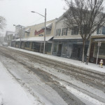 Front Street in Greenport at 9:15 a.m. (Credit: Grant Parpan)