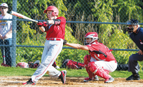 Liam Walker, who led Southold with a .507 batting average during the regular season, will join his teammates in the team's first regional final since 2003 on Saturday. (Credit: Katharine Schroeder)