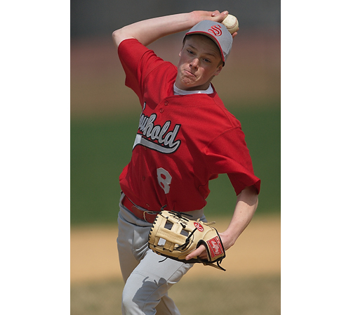 GARRET MEADE FILE PHOTO | With pitchers like Rob Mahony, Southold coach Mike Carver isn't worrying about his team's pitching.