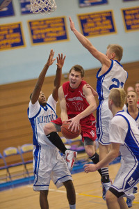GARRET MEADE FILE PHOTO | Southold's dynamic Liam Walker, shown driving through the heart of Mattituck's defense, can play any position except center.