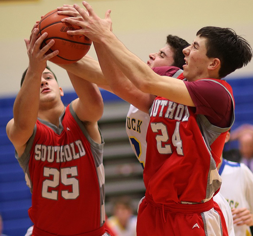 Southold basketball player Pat McFarland 121815