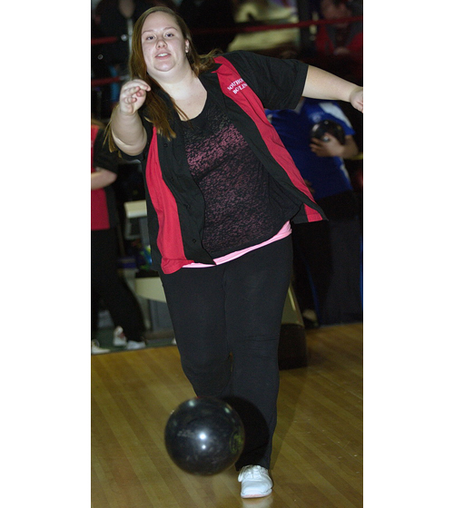 Jen Jaklevic rolled a 465 series for Southold in its loss to Riverhead at Wildwood Lanes in Riverhead. (Credit: Garret Meade)