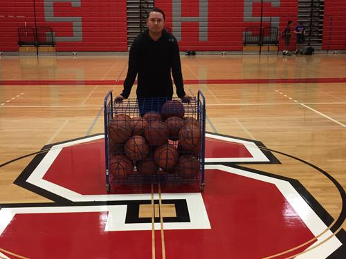 Southold boys basketball coach Lucas Grigonis 112116