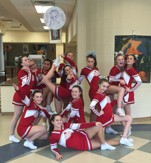 Southold cheerleaders 031816