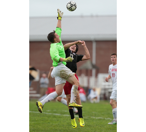 Southold goalkeeper Dylan Clausen will be part of the latest chapter of a rivalry with Mattituck when the teams meet for the first time since 2011 on Saturday. (Credit: Daniel De Mato, file)