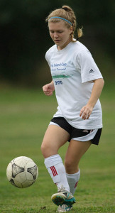 GARRET MEADE PHOTO | Justina Babcock plays striker for her club team but central midfield for Southold/Greenport.