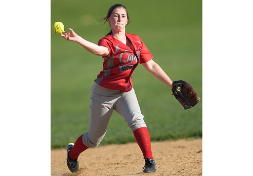 GARRET MEADE FILE PHOTO | Caitlin Grilli played shortstop last season for Southold/Greenport. Coach Lori Marra believes Grilli could play third base.