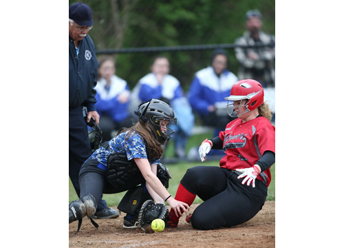 Southold:Greenport softball player Sam Baldwin 042616