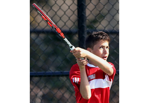 Southold:Greenport tennis player Jacob Kahn 042116