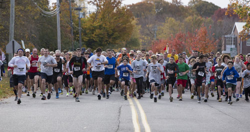 The start of last year's 5K in Southold. (Credit: Katharine Schroeder, file)