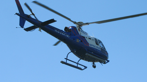 A Suffolk County police helicopter. (Credit: Grant Parpan, file)