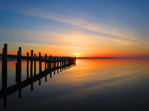 A sunrise captured last April in New Suffolk. (Credit: Wendy Zuhoski, file)