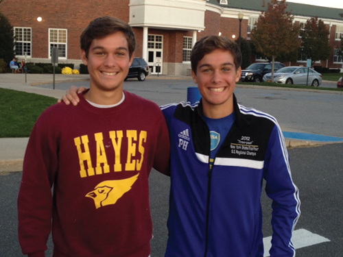 Brothers James (left) and Paul Hayes will play together in college. (Credit: Michael Lewis)