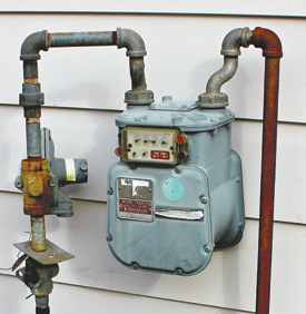 how to connect gas without gas meter number