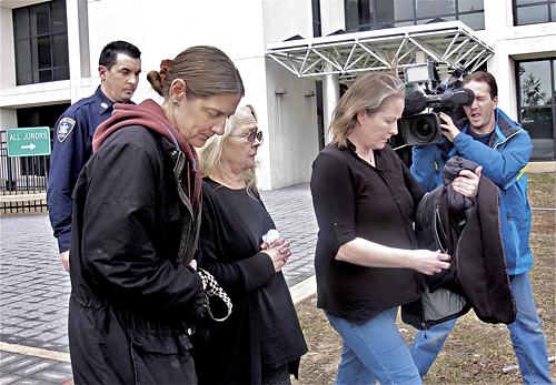 Ms. Stulsky leaving court last year. (Credit: Barbaraellen Koch, file)