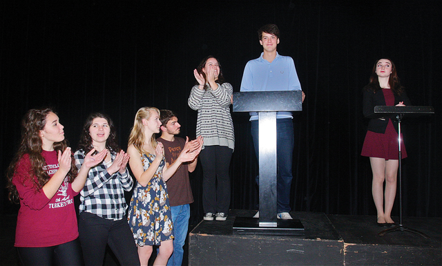 Mattituck High School performs 'The Election' beginning Thursday. (Credit: Barbaraellen Koch)