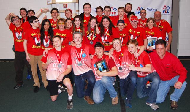 Southold Robotics celebrates its invitation to the FIRST Robotics world championship later this month. (Credit: PRMG New York)