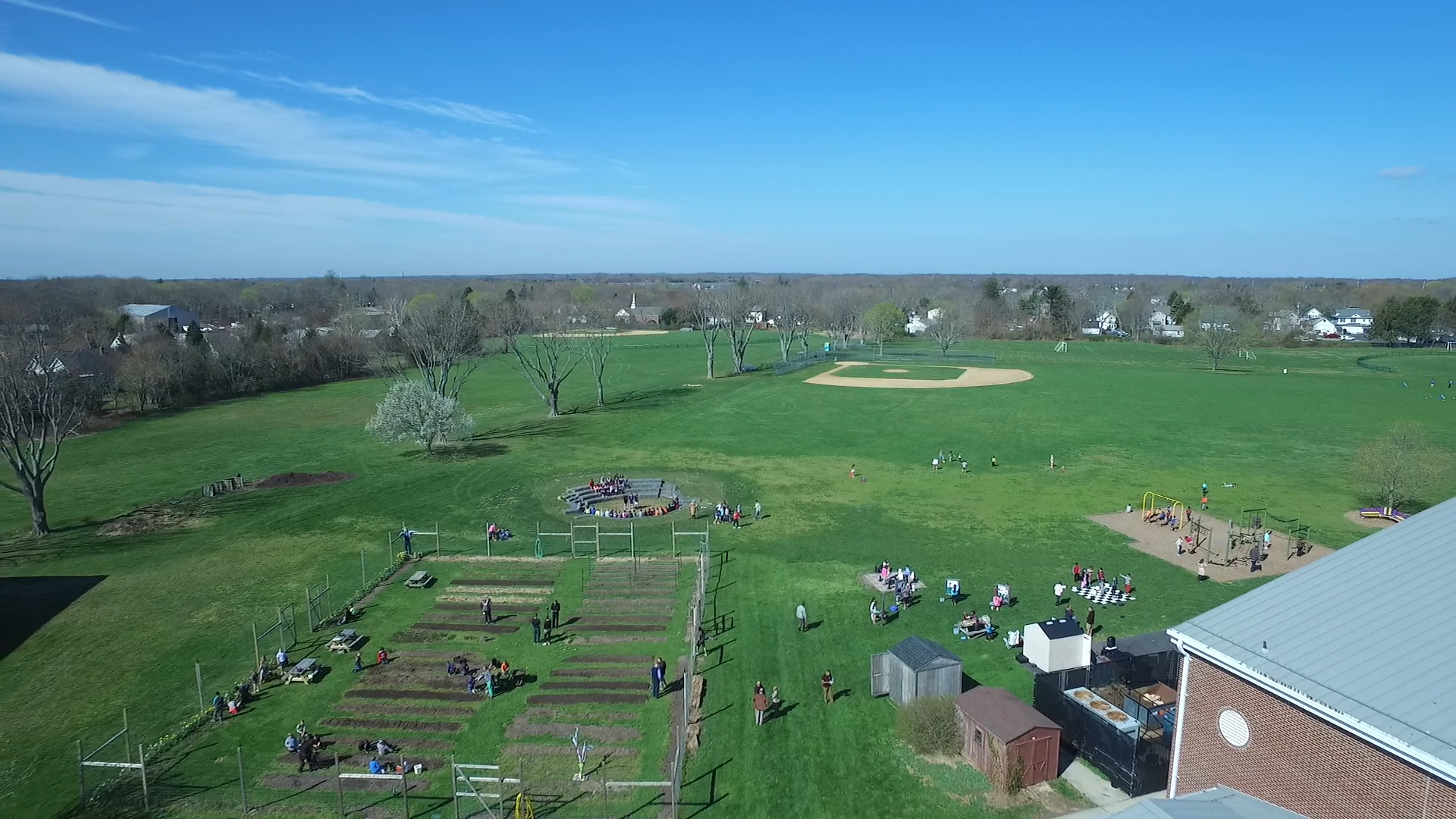 An aerial view of Tuesday's recess from aerial videographer Andrew LePre. (Credit: LePre Media)