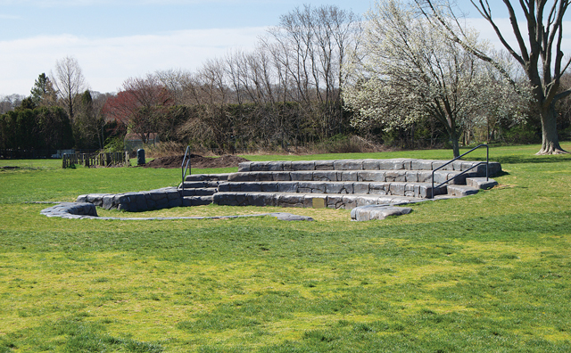 The outdoor amphitheater where the movie night will be held next month. (Credit: Grant Parpan, file)