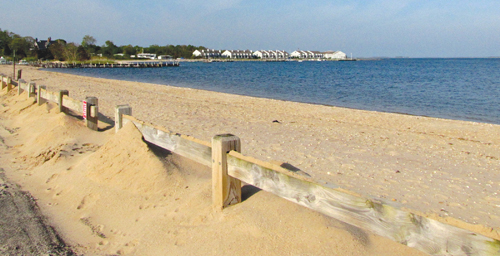 CYNDI MURRAY FILE PHOTO | Erosion has claimed much of the beach at Norman Klipp Park in Greenport.