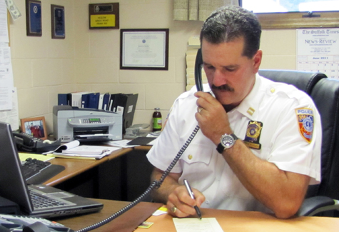 Martin Flatley was appointed as Southold Town's police chief in 2011.