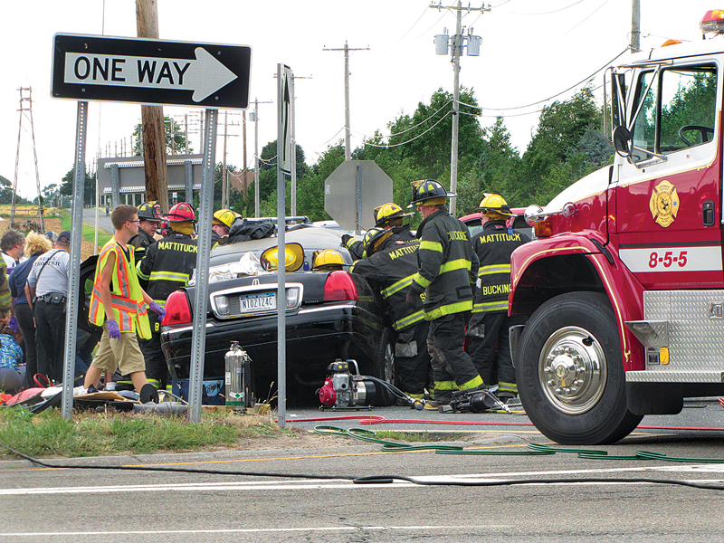 The crash scene on the evening of July 18. (Credit: Tim Gannon)