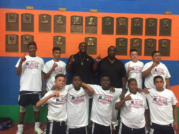 The Boulevard Boyz celebrate their AAU title. (Courtesy Photo)