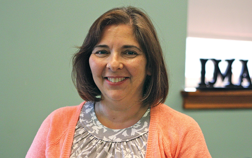 Alexandra Conloan, Our Lady of Mercy's new principal, worked as an art and Spanish teacher as St. Isidore's in Riverhead for over 13 years. (Credit: Jennifer Gustavson)
