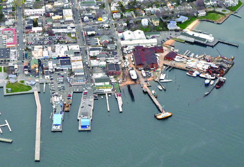 TIM KELLY FILE PHOTO | A bird's eye view of Greenport Village.