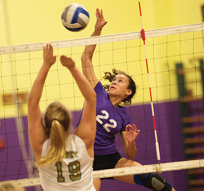 Greenport outside hitter Marina DeLuca is back for her junior season. (Credit: Garret Meade, file)