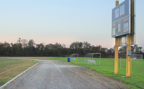 JENNIFER GUSTAVSON FILE PHOTO  |  The existing cinder track at Mattituck High School.