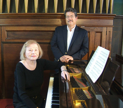 DOUGLAS GREGG PHOTO | Pianists Charlotte Day and Jeffrey Wentz (pictured), along with cellist Ted Hoyle, perform Sunday at 4 p.m. at First Universalist Church of Southold.